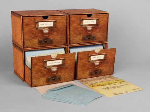 Card Catalogue notecards