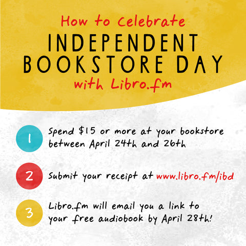 how to redeem indie bookstore day libro.fm
