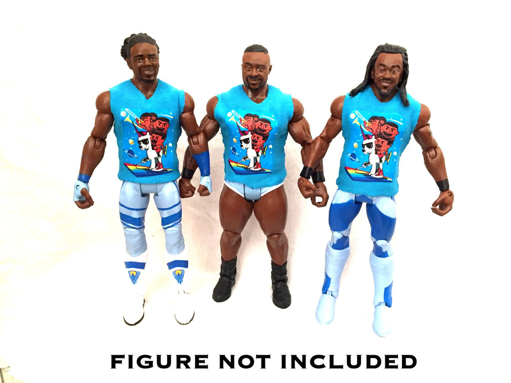 New Day. Set Of 3. Custom Shirts For WWE Mattel Figures.