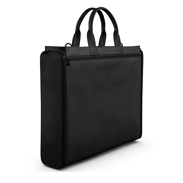 Briefcase Bag in Black Matte Leather