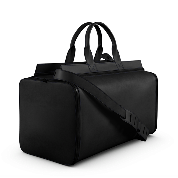 large Overnight Bag black leather
