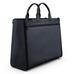 Blue Matte Leather Carryall