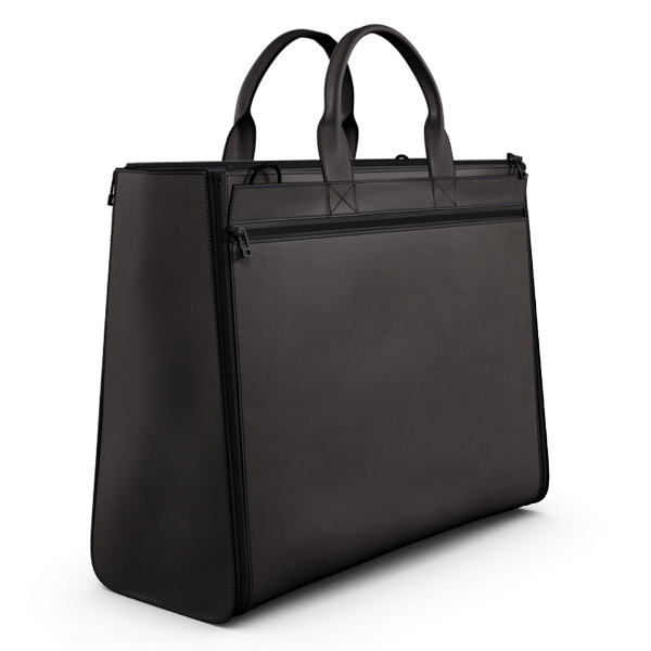 Carryall Tote Bag Brown Matte Leather