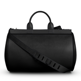Seen in London: Duffel Gym Bag in Black Matte Leather