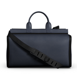 Overnight Bag in Blue and Black Matte Leather