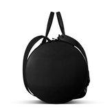 Duffel Gym Bag in Black Matte Leather