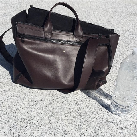 Seen in LA: Carryall Tote Bag in Brown Matte Leather