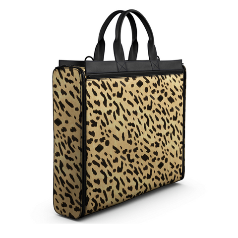Leopard Print Briefcase Bag