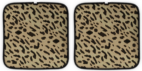Overnight Bag Add-On Parts in Leopard Printed Calf Skin Leather