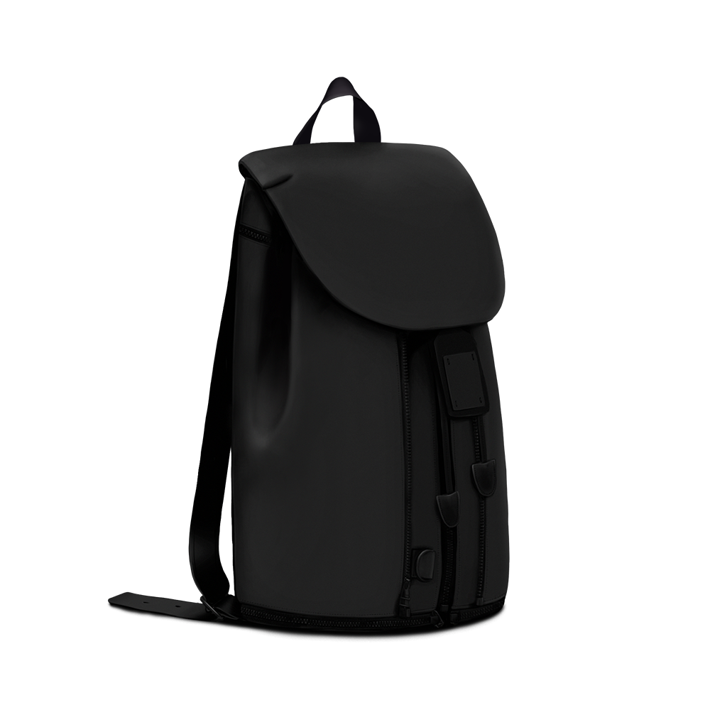BACKPACK IN BLACK MATTE LEATHER