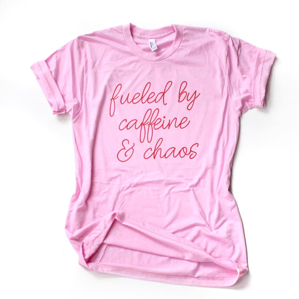 Fueled by Caffeine & Chaos Valentine's Day Tee [ships in 2-4 business days]