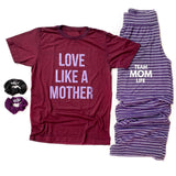 Team Mom Life Lounge Pants - Purple [ships in 3-5 business days]