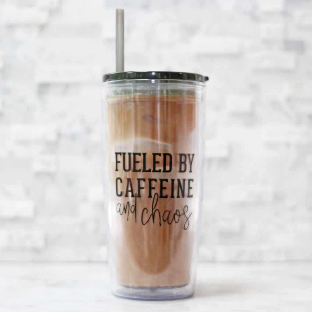 Fueled By Caffeine & Chaos 20oz Tumbler [Ships in 3-5 business days]