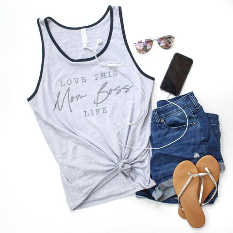 Mom Boss Unisex Tank [ships in 3-5 business days]