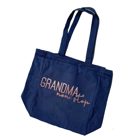 Grandma Non Stop Canvas Tote [ships in 3-7 business days]