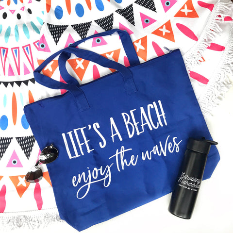 Life's a Beach Canvas Tote Bag