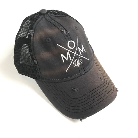 Mom Life Distressed Hat