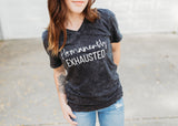 Permanently Exhausted Mineral Wash Tee [ships in 3-7 days]
