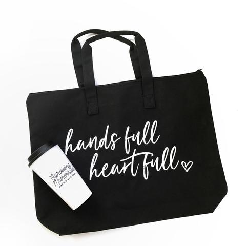 Hands Full Heart Full Canvas Tote Bag