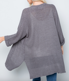 Relaxed Fit Loose Knit Cardigan