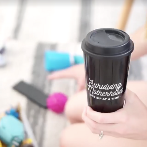 Surviving Motherhood Travel Tumbler - Black