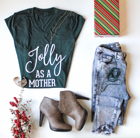 Jolly as a Mother Holiday Tee