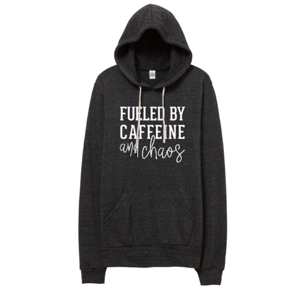 PREORDER: Fueled by Caffeine & Chaos Fleece Pocket Hoodie