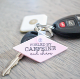 Fueled by Caffeine & Chaos Keychain