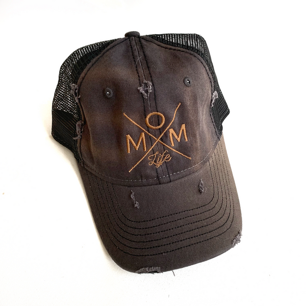 Final Sale: Mom Life FLAWED Distressed Hat [Ships in 2-4 business days]