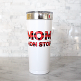 Limited Edition: Mom Non Stop Buffalo Plaid Tumbler