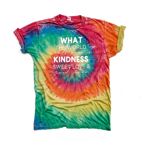 What The World Needs Burnout Tie Dye Tee [ships in 3-5 business days]