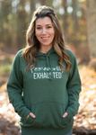 Permanently Exhausted Green Unisex Hoodie [Ships in 3-5 business days]