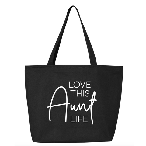 Love This Aunt Life Canvas Tote Bag