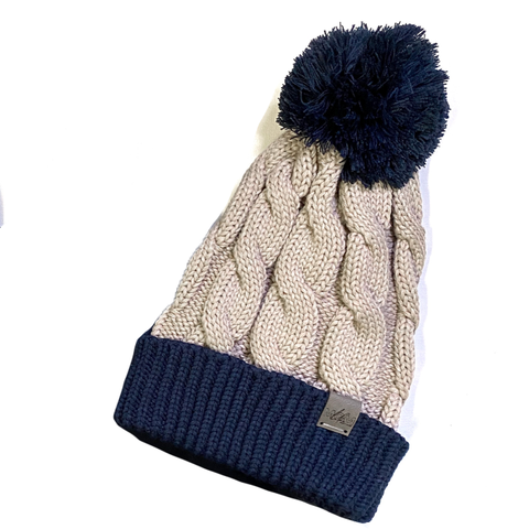 Signature Cable Knit Pom Beanie [ships in 3-5 business days]