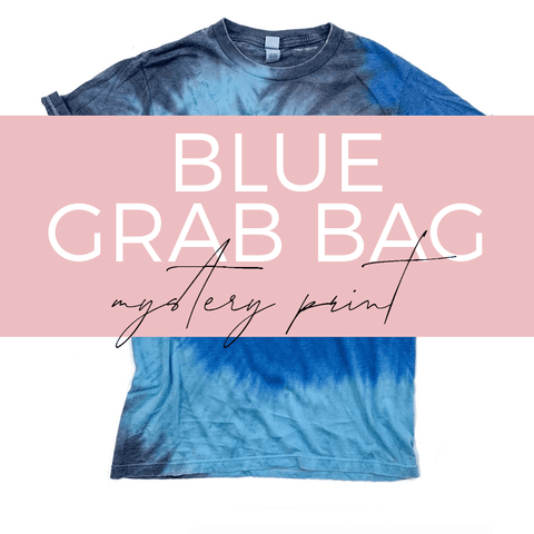 BLUE Tie Dye Burnout Tee GRAB BAG [ships in 3-5 business days] FINAL SALE