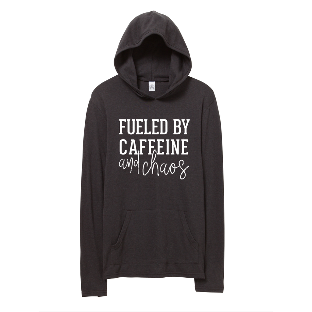 Fueled By Caffeine & Chaos Lightweight Hoodie [Ships in 3-5 business days]