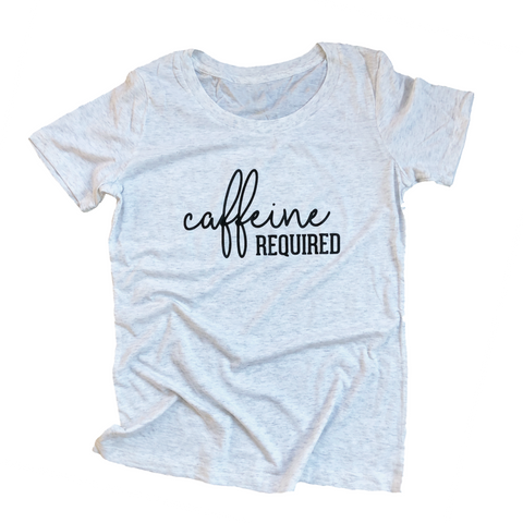 Caffeine Required Women's Scoop Neck Tee