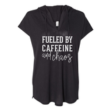 Fueled by Caffeine and Chaos Hooded Tee
