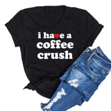 Coffee Crush Unisex Vneck Tee [ships in 3-5 business days]