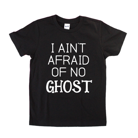 PREORDER: Ain't Afraid of No Ghost Kids Halloween Tee [Ships in 7-10 business days]