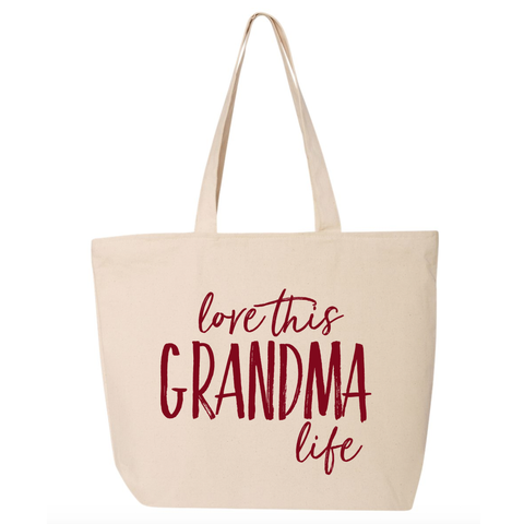 Love This Grandma Life Canvas Tote Bag