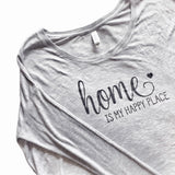 Home Is My Happy Place Flowy Long Sleeve