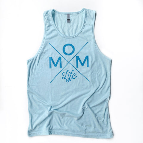 Ice Blue Unisex Mom Life Tank [ships in 3-5 business days]