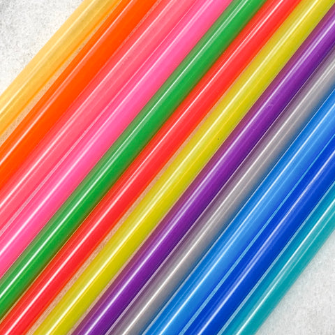 "Colorful Plastic 10"" Straws"