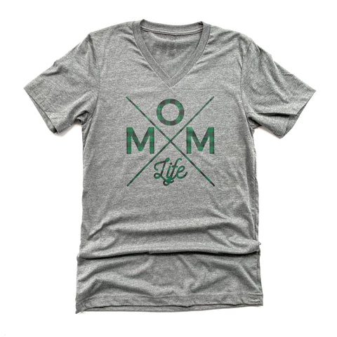 Mom Life GREEN PLAID Tee [ships in 3-5 business days]