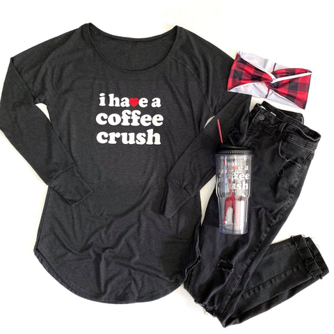 Coffee Crush Long Sleeve Women's Fit Tunic [ships in 3-5 business days]