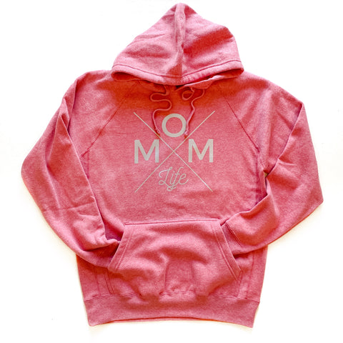 Heather Pink Mom Life Unisex Hoodie [Ships in 3-5 business days]