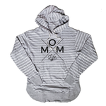 Mom Life Striped Women's Relaxed Fit Hoodie [Ships in 3-5 Business Days]