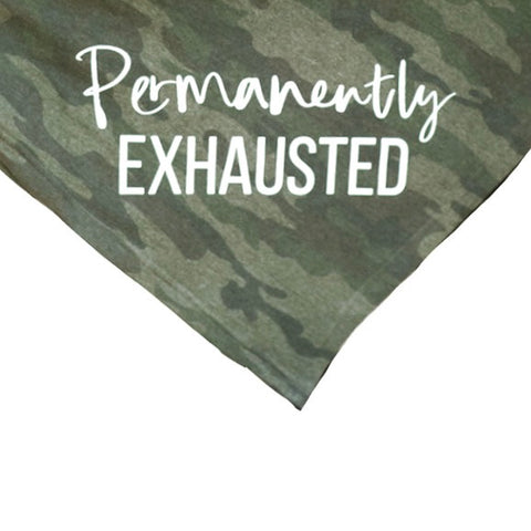 Permanently Exhausted Camo Fleece Blanket [ships in 3-5 business days]