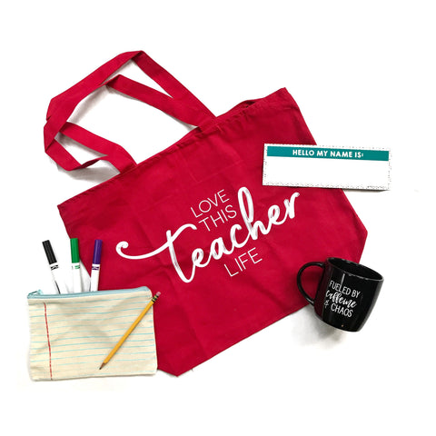 Love This Teacher Life Canvas Tote Bag
